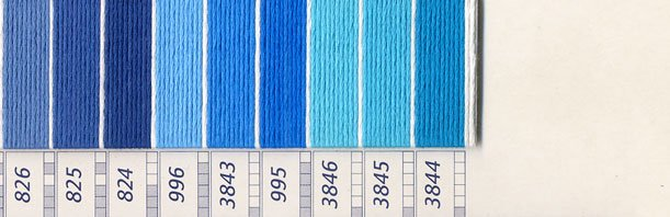 DMC刺繍糸 25番 紫・青色系 2 【参考画像3】