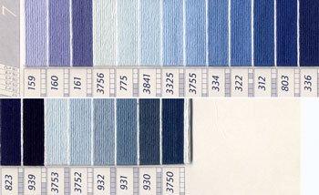 DMC刺繍糸 25番 紫・青色系 3