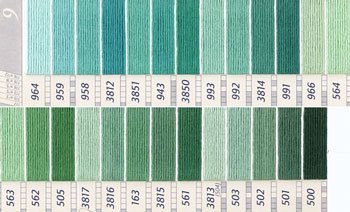 DMC刺繍糸 25番 緑・黄緑色系 1