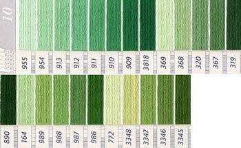 DMC刺繍糸 25番 緑・黄緑色系 2
