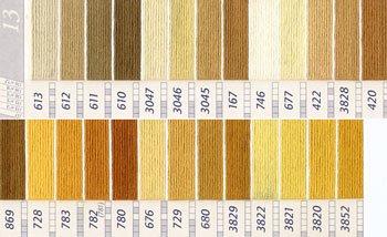 DMC刺繍糸 25番 黄・橙色系 1