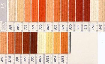 DMC刺繍糸 25番 黄・橙色系 3