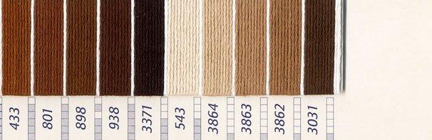 DMC刺繍糸 25番 茶・白黒系 1 【参考画像3】