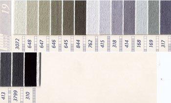 DMC刺繍糸 25番 茶・白黒系 3