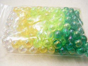 島村SH 丸ビーズ DX8mm 1箱(10袋) 緑系ミックス M3