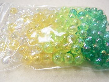 島村SH 丸ビーズ DX 6mm 1箱(20袋) 緑系ミックス M3