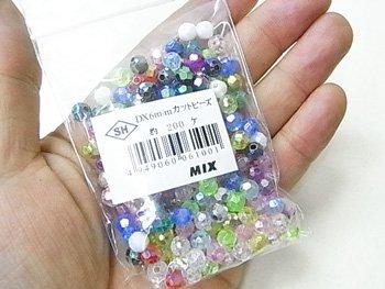 島村SH カットビーズ DX 6mm 1箱(20袋) オーロラ ミックス