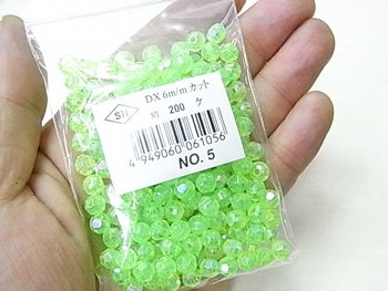 島村SH カットビーズ DX 6mm 1箱(20袋) col.2 オーロラ 薄ピンク 【参考画像6】