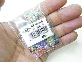 島村SH 丸ビーズ DX 4mm 1箱(20袋) オーロラ ミックス