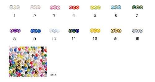 島村SH 丸ビーズ DX 4mm 1箱(20袋) col.5 オーロラ 黄緑 【参考画像2】