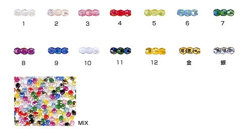 島村SH カットビーズ DX 4mm 1箱(20袋) オーロラ ミックス 【参考画像2】