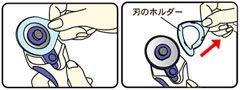 クロバー 57-503 ロータリーカッター 替刃 45mm 1枚入x5枚セット 【参考画像1】