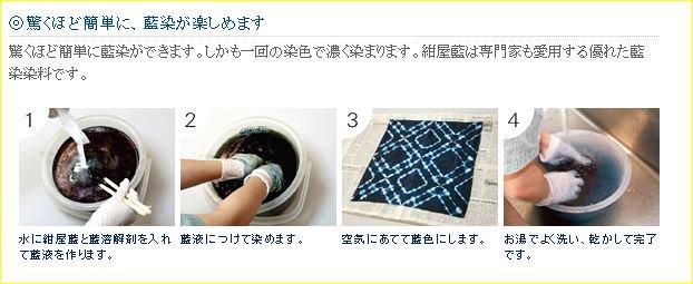 藍染め染料セット 紺屋藍 SEIWA 【参考画像1】