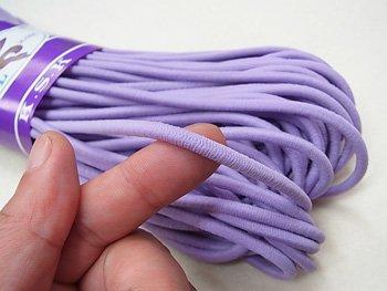 金天馬 ウーリーゴム 紫 L 直径約4mm 30m綛