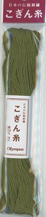 オリムパス こぎん糸 深緑 col.218 【参考画像1】