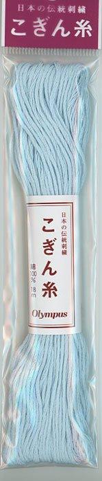 オリムパス こぎん糸 水色 col.364 【参考画像1】