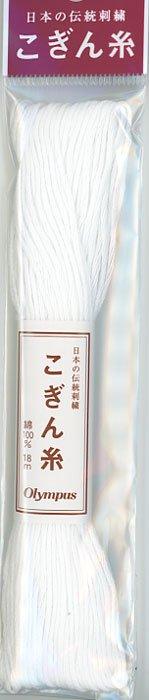 オリムパス こぎん糸 白 col.800 【参考画像1】