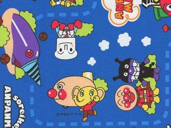 ■廃番■ アンパンマン生地 青 キャラクター オックス 2015年度版