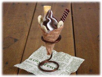 ロイヤル フェルト手芸キット スイーツカフェキット ソフトクリーム チョコ