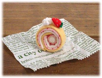 ■廃番■ ロイヤル スイーツカフェキット フェルト手芸キット ロールケーキ イチゴ