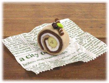 ■廃番■ ロイヤル スイーツカフェキット フェルト手芸キット ロールケーキ チョコバナナ