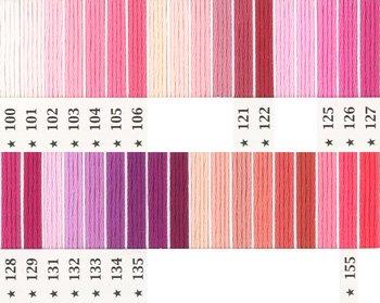 オリムパス刺繍糸 5番 ピンク・赤系 1