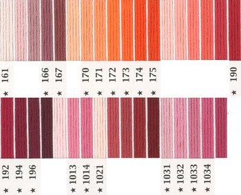 オリムパス刺繍糸 5番 ピンク・赤系 2