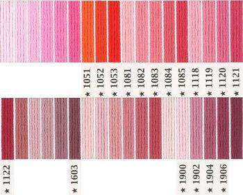オリムパス刺繍糸 5番 ピンク・赤系 3