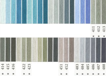 オリムパス刺繍糸 5番 青・水色系 2