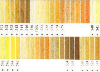 オリムパス刺繍糸 5番 黄色・橙色系 1