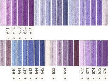 オリムパス刺繍糸 5番 紫色系 1
