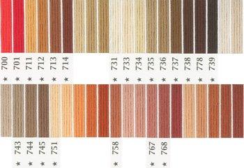 オリムパス刺繍糸 5番 茶・白黒系 1