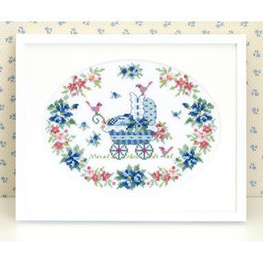 オリムパス 刺繍キット ロゼット&ベビーカー 7433 【参考画像1】