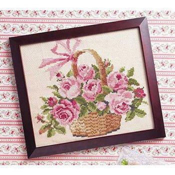 オリムパス 刺繍キット バラの花かご 887