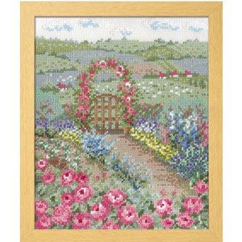 オリムパス 刺繍キット バラの花咲くピーターの庭 7424