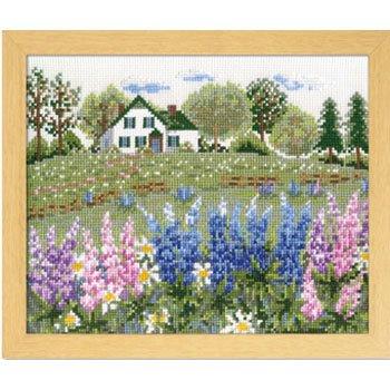 オリムパス 刺繍キット ルピナスの花咲くアンの家 7426