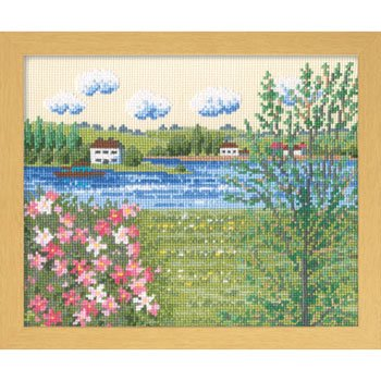オリムパス 刺繍キット セーヌ河の春 7362