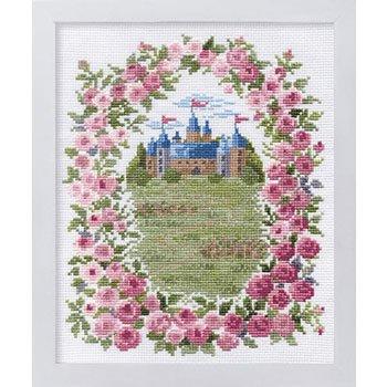 ■廃番■ オリムパス 刺繍キット バラのお城 7312