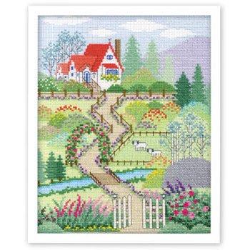 オリムパス 刺繍キット 花園の家 7398