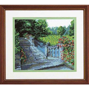 オリムパス 刺繍キット 水辺の庭園 7016