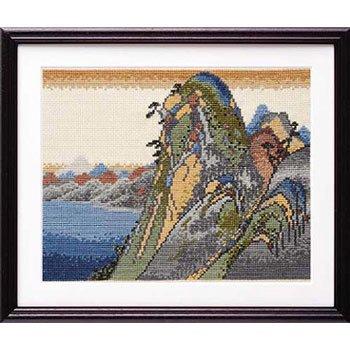 オリムパス 刺繍キット 箱根(湖水図) 7140 広重画
