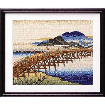 オリムパス 刺繍キット 岡崎(矢矧之橋) 7143 広重画