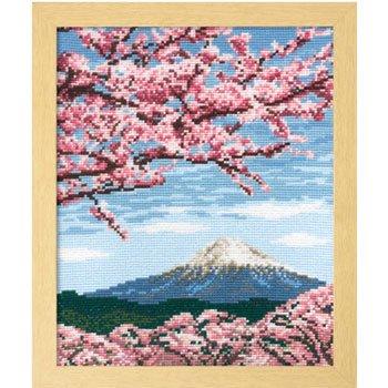 オリムパス 刺繍キット 桜と富士山 7386