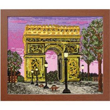 オリムパス 刺繍キット パリの凱旋門 フランス 7439