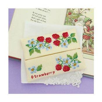 オリムパス 刺繍キット イチゴのティッシュケース 9053