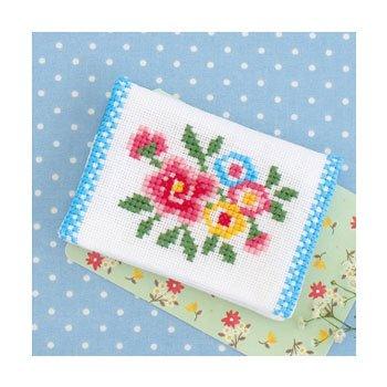 ■廃番■ オリムパス 刺繍キット お花のカードケース 9006