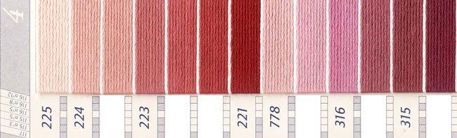 DMC 刺繍糸セット 5番 col.225〜3041x各1束 11色セット ピンク・赤色系 4 【参考画像2】