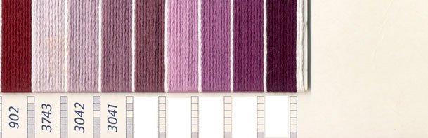 DMC 刺繍糸セット 5番 col.225〜3041x各1束 11色セット ピンク・赤色系 4 【参考画像3】