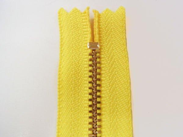 YKK 3G 玉付きファスナー 12cm ゴールド col.504 黄色 【参考画像2】