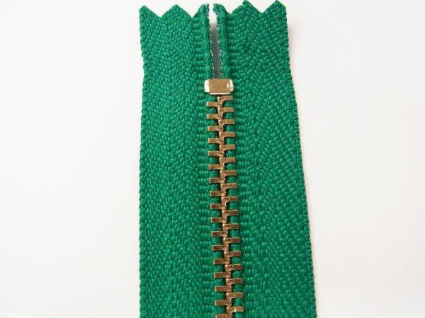 玉付きファスナー 10cm col.540 緑 10本セット ゴールド 【参考画像2】